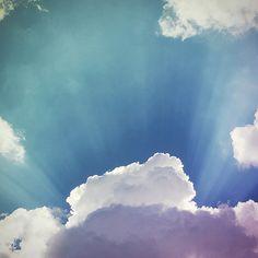 blue sky #sky #clouds