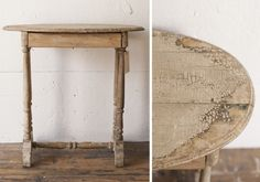Rustic Painted Side Table