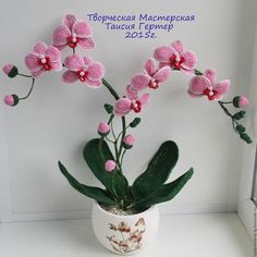 Цветы ручной работы. Орхидея декоративная. Таисия Гертер. Интернет-магазин Ярмарка Мастеров. Подарок, орхидея, декоративный цветок
