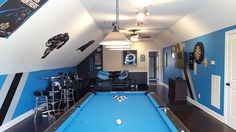 Our Carolina Panthers Man Cave/ Fan Cave On The Third Floor