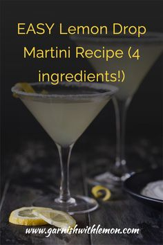 Bright and refreshing, this Lemon Drop Martini recipe is the perfect balance of sweet and sour!  This easy vodka cocktail will make you look like a master bartender and is the special (but EASY) touch your next happy hour needs. Best Vodka Drinks, Vodka Cocktails, Drinks Alcohol Recipes, Fun Drinks, Drink Recipes, Beverages, Martini Recipes, Cocktail Recipes, Easy Lemon Drop Martini Recipe