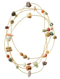 Babaghuri is a type of agate from Ratanpur in the Gujarat area. This collection of handcrafted jewelry is made from stones gathered over an extensive period of time by Jurgen Lehl.