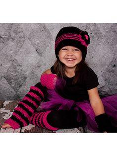Crochet - Children & Baby Patterns - Hat Patterns - Groovy Girl Set