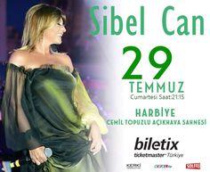 🌟🎶💫✨🎙Sibel Can ✨💫🎶🌟Yaz  konserleri... 🔊29 Temmuz Cumartesi Saat:21:15 Harbiye Acikhava Tiyatrosu /İstanbul Biletler satışta @biletix 'te .