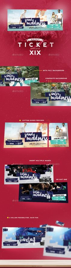 Event Tickets Template 30 Ticket template, Event ticket and - event tickets template