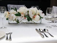 Image result for flower arrangements in a glass trough vase