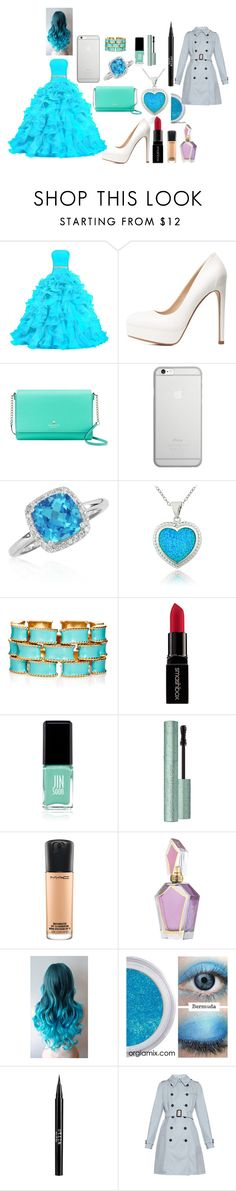 """Prom Night!!"" by maggiehoeser on Polyvore featuring Charlotte Russe, Kate Spade, Native Union, Belk & Co., Glitzy Rocks, Ciner, Smashbox, Jin Soon, MAC Cosmetics and Stila"