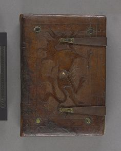 Medieval cuir-ciselé binding by the Master of Kremsmünster, Austria, early 15th century. Loose cover, manuscript missing. The volume was purchased from Sandbergs antiquarian bookshop in 1965.