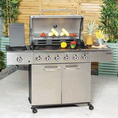 XL Barbecue Outdoor 6-Burner Gas BBQ Multi Cook Plate System Stainless Steel New