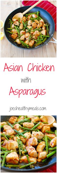 Asian style Chicken breast with Asparagus.