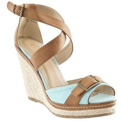 @Overstock - Riverberry Women's 'Pinot' Blue Platform Wedge Espadrille Sandals - These gorgeous espadrille style wedges from Riverberry are warm-weather ready, with a cool buckle detail on the toecap. A secure ankle strap finishes the look of these tall wedge heels.    http://www.overstock.com/Clothing-Shoes/Riverberry-Womens-Pinot-Blue-Platform-Wedge-Espadrille-Sandals/7754117/product.html?CID=214117  $40.99