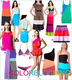Color blocking is making it's way back from the 80's & 90's....in a more subtle way.  Minus the shoulder pads and big gold buttons, old is once again new.  Have fun with it!