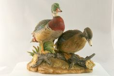 Vintage porcelain Wood Ducks from Andrea by Sadek - hard to find and collectible.