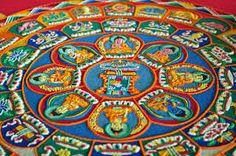 Image result for buddhist monk sand art
