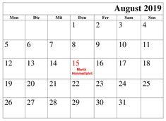 Kalender 2019 August Mit Feiertagen Excel Kalender August, Periodic Table, Words, Ascension Day, Holiday, Periodic Table Chart, Periotic Table, Horse