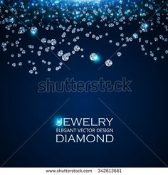 Falling Gems Abstract Background. Diamond Design. Vector illustration - stock vector