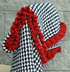 Knitted Houndstooth Blanket Free Pattern