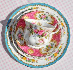 beautiful vintage china tea set for one