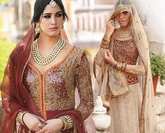 Add a hue of the open skies in your #traditionaloutfit with the ethereal and unique combination of cream and red in this outfit made on net Lehenga with heavy embroidery.  http://www.lashkaraa.com/blog/new-trends-in-part-wear-designer-lehengas/
