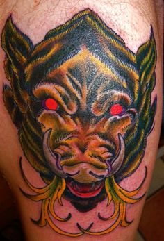 60f724e2bd591 30 Best Tattoos Of Wild Boars images in 2017 | Wild boar, Amazing ...