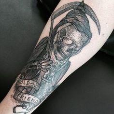100 Most Unusual Grim Reaper Tattoo Designs cool Tattoo Designs And Meanings, Tattoo Sleeve Designs, Tattoo Designs For Women, Sleeve Tattoos, Tattoos For Women, Tattoos For Guys, Samurai, Grim Reaper Tattoo, Man Sketch