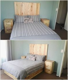 Pallet-Bed-Headboard-with-Side-Tables.jpg (750×875)