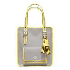 The Legacy Archival Two Tone Leather Magazine Tote from Coach
