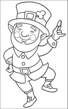If your lovely kiddos are folklore lovers, then we suggest you to hand them Leprechaun printable coloring pages. Considering the leprechaun, many great Saint Patricks Day Art, St Patricks Day Crafts For Kids, St Patrick's Day Crafts, March Crafts, Diy Crafts, Printable Coloring Pages, Coloring Pages For Kids, Coloring Sheets, Coloring Books
