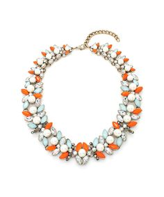 Look at this Tangerine & Mint Claudette Statement Necklace on #zulily today!