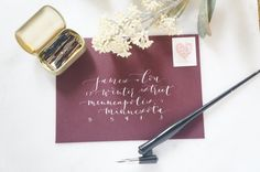 PRICING  $2.50 Outer Envelope (up to three lines + zip code) $1.75 Inner Envelope (names only) $1.00 Return Address  Prices include White + Black Ink  Add $0.25 per colored envelope.  Envelopes can be purchased for you for an additional cost. Cost will depend on envelope type + units.  Add $10 for customized ink color (gold, rose gold, blue, green, etc.).   HOW IT WORKS  1. CONTACT ME - Email/Message me with details of your order and a quote will be provided. - Number of Envelopes…