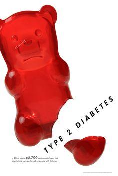 Type 2 Diabetes Poster by Amanda Pickens, via Behance
