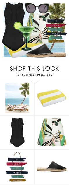 """""""Ocean breeze"""" by dmg555 ❤ liked on Polyvore featuring Luxor Linens, Charli Cohen, Emilio Pucci, WALL, Raye and STELLA McCARTNEY"""