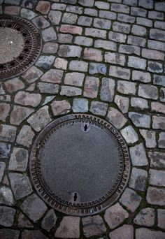 Cobble stone road in Lubeck, Germany