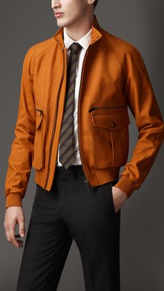 Leather Bomber Jacket | Burberry