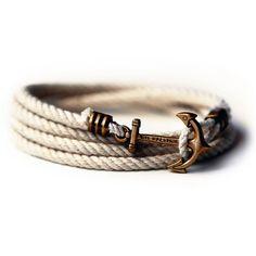 I really <3 this for the stylish man! Kiel James Patrick Atlantic Whalers Lanyard Hitch Rope Bracelet