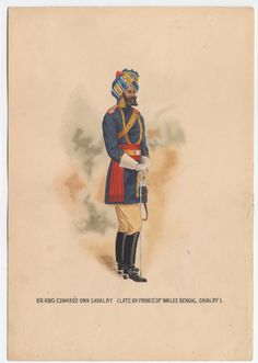 British; 6th King Edward's Own Cavalry(Late 6th Prince of Wales Bengal Cavalry), c.1910 by K.E Rose