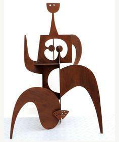 Philippe Hiquily (1925-2013) - Marathonienne, 2004  Acier soudé, peinture époxy noire (158 x 109 x 60cm)