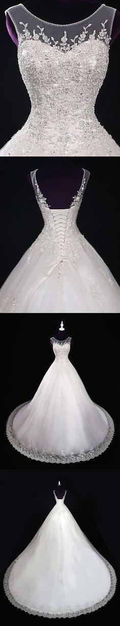Wedding Dresses: New Lace Ivory/White Wedding Dress Bridal Gown Custom Size 2 4 6 8 10 12 14 16+ -> BUY IT NOW ONLY: $130.0 on eBay!