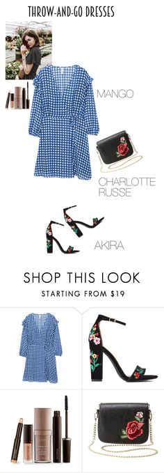 """""""Plaid & Flowers"""" by olesyabond ❤ liked on Polyvore featuring MANGO, Laura Mercier and Charlotte Russe"""