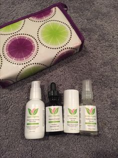Amara organics skin care - 3/4 left includes bag
