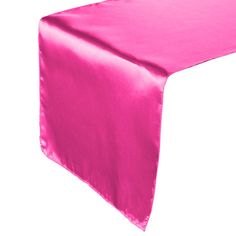 USING THIS.  Food table, black tablecloth with fuchsia runner and polka dot overlay.