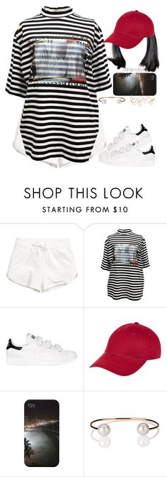 """""""Goodnight Gotham // rihanna   07 25 16"""" by kahla-robyn ❤ liked on Polyvore featuring adidas, New Look, Letters By Zoe and Topshop"""