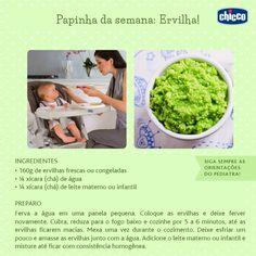 Depois que seu bebê se acostumou com a primeira papinha, é hora de introduzir novos sabores. Hoje a receita é de ervilha, para inovar nas papinhas dos dias mais friozinhos da estação.