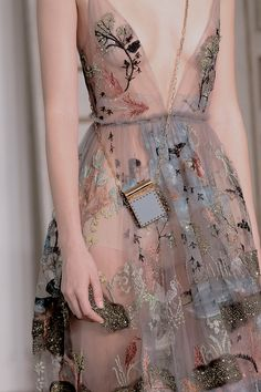 Valentino Spring 2017 | Sheer, Floral, Embroidered, Dresses, Haute Couture Fashion