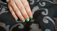 Green Xmas jumper nails stamping designs. I loved doing these ones