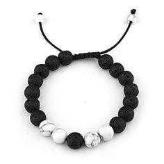 e7aa49af564 SALE PRICE - $6.89 - SULYSI Adjustable Lava Rock Stone Essential Oil  Anxiety Diffuser Bracelet Unisex