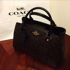 ✨Brand new! Coach Small Margo in Signature Gorgeous and classic, this bag is great for on the go while not losing the elegance of being a lady. Comes with the keychain protector and keychain. Also comes with long shoulder strap.   HP: 2/22/2016 ✨WorkWeekChic✨ Coach Bags