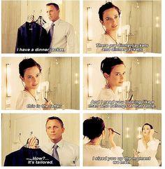 Daniel Craig as James Bond. Eva Greene as Vesper in Casino Royale Bond Quotes, Movie Quotes, Rachel Weisz, Downton Abbey, Superwholock, Candice Renoir, Outlander, Sherlock, Doctor Who