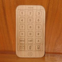 Wooden Toy iPhone - Smart Phone Toy - Organic and Repurposed Wood on Etsy, $9.00