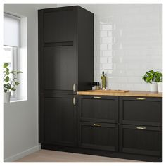 LERHYTTAN Door - black stained - IKEA Always aspired to be able to knit, nonetheless unsure the place to start? That Absolute Beginner Knitting Series is exac. Kitchen Doors, Kitchen Chairs, Kitchen Furniture, Kitchen Walls, Kitchen Fixtures, Tall Kitchen Cabinets, Furniture Cleaning, Furniture Nyc, Furniture Websites